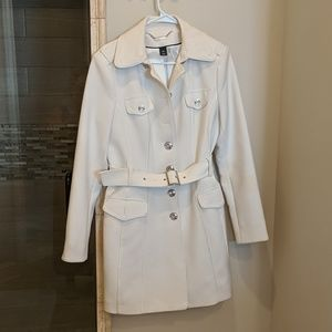 WHBM classic white Trench coat Medium